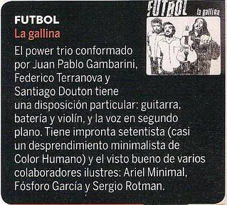"""Reseña """"La Gallina"""" Futbol"""