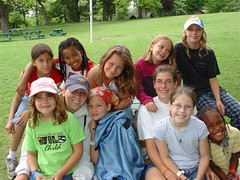 Danielle with campers at Camp Duncan