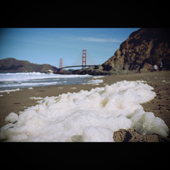 Golden Gate Bridge and Sea Foam