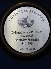 Photo of John Philip Holland grey plaque
