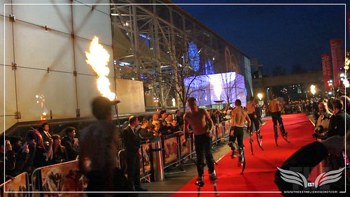 The Establishing Shot: UK John Carter Premiere - Red Carpet stilt bouncers - BFI, London by Craig Grobler