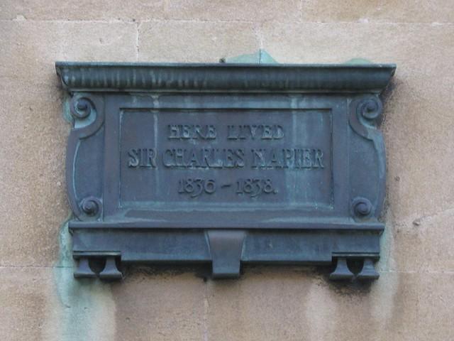 Photo of Charles Napier bronze plaque