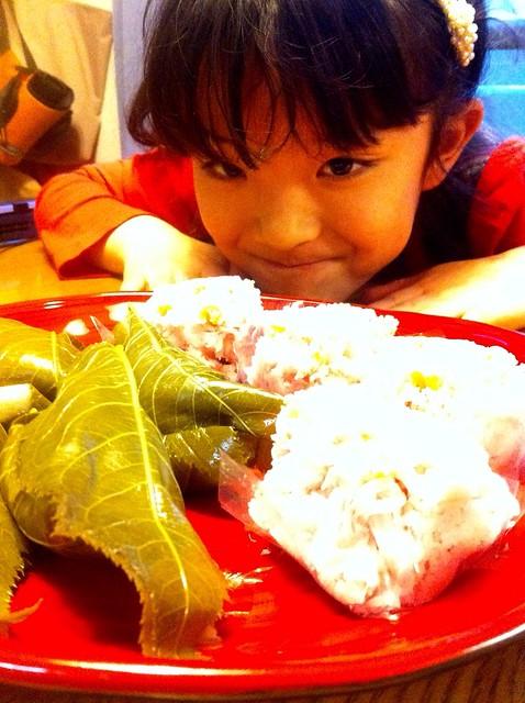 桜餅と志穂