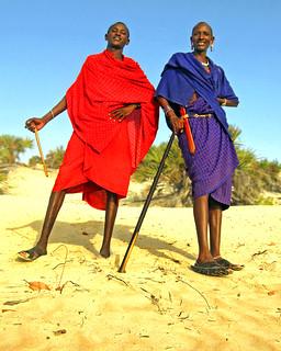 Maasai Security Guards II - Shela Dunes, Kenya