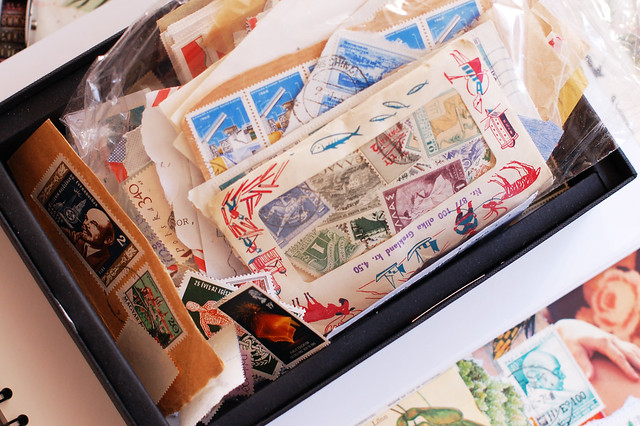 Collection of postal stamps