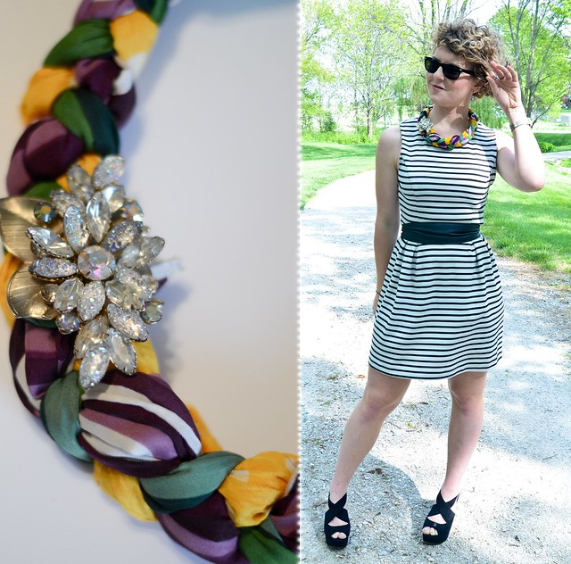How to make a braided scarf statement necklace: