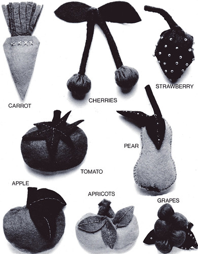 black and white fruit