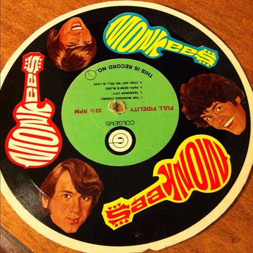 Cardboard Monkees record.