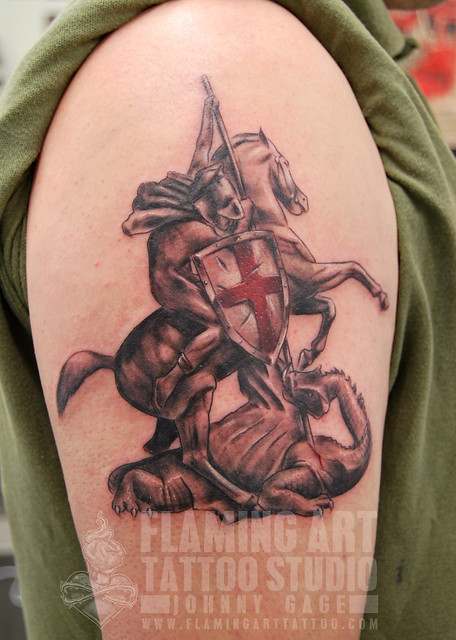 St george tattoo designs cross