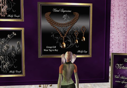 Virtual Impressions Theresa in Brown Pearls, Group Gift_001 by Cherokeeh Asteria