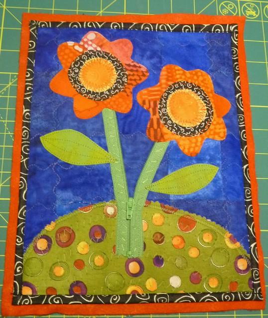 flower art quilt