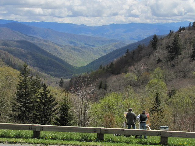 IMG_4839_Artists_at_Parking_Area_Past_Newfound_Gap