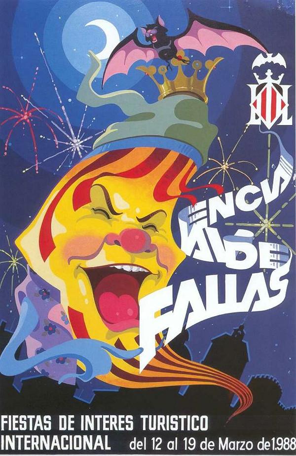 Cartel de las Fallas de Valencia de 1988