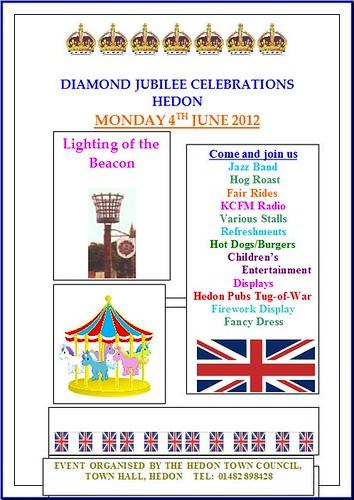 Hedon Jubilee Celebrations Poster