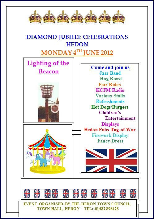 Hedon Jubilee Celebrations Poster