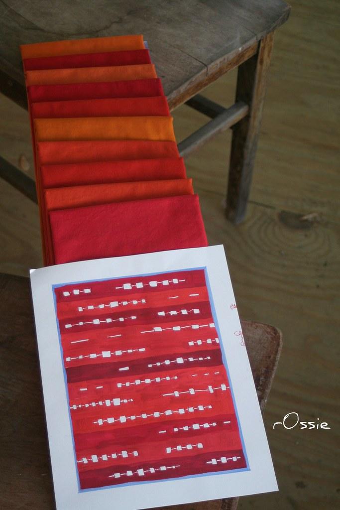 mid mod kelp quilt fabric