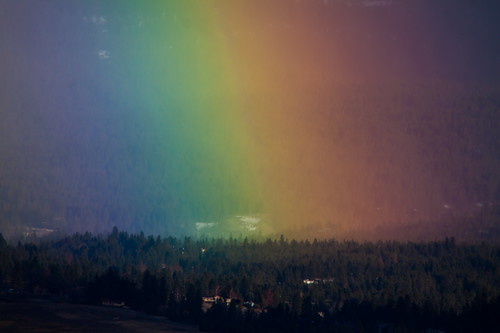 blue light red orange green yellow landscape rainbow purple scenic rainbows