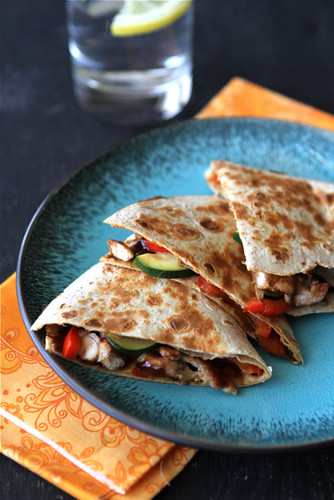 Cookin' Canuck - Asian Quesadilla with Chicken, Zucchini ...