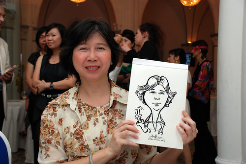 caricature live sketching for Intel Mobile Communications Year-End celebrations - 7