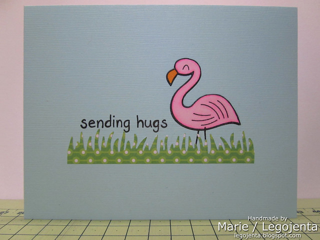Flamingo Hugs Card