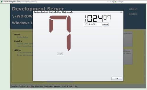 SL BiggestBox - Rolling Analog Digit Sample