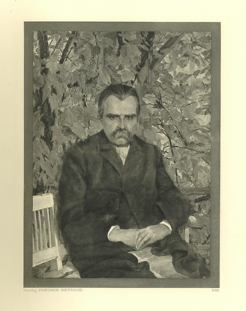 Portrait of Friedrich Nietzsche.  Heliogravure after the portrait by Curt Stoeving. Berlin, 1895.  Pan.  Vol. I, no. 3.