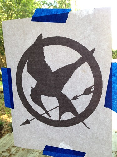 How-To: Hunger Games Mocking Jay Bleach Pen Freezer Paper Stencil T-Shirt