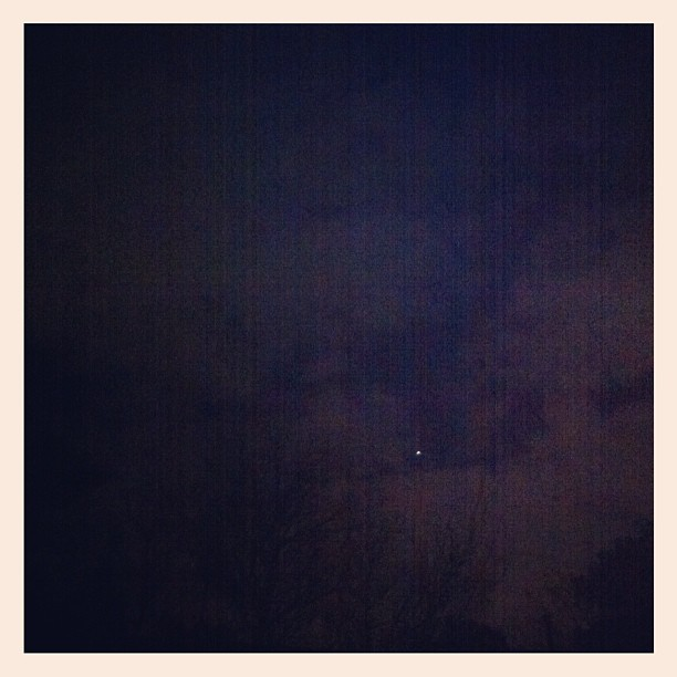 No moon that I can see. Only one tiny star. Can you find it? #marchphotoaday #day23