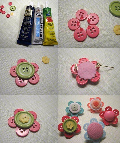 Buttons flower