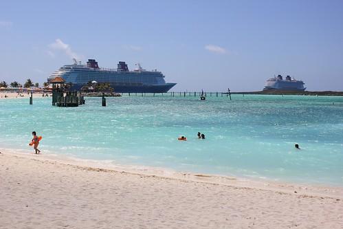 Disney Fantasy and Disney Dream at Castaway Cay