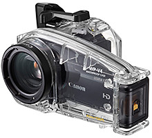 Bring the LEGRIA HF-M camcorder underwater with the WP-V4 Waterproof Case.