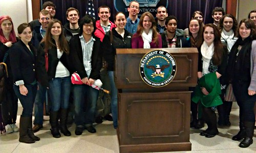Terrorism studies program takes students to tour the Pentagon