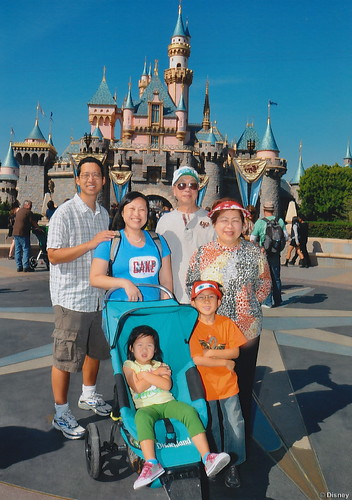 Family picture at the Magic Kingdom