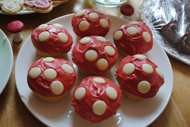 Toadstool muffins