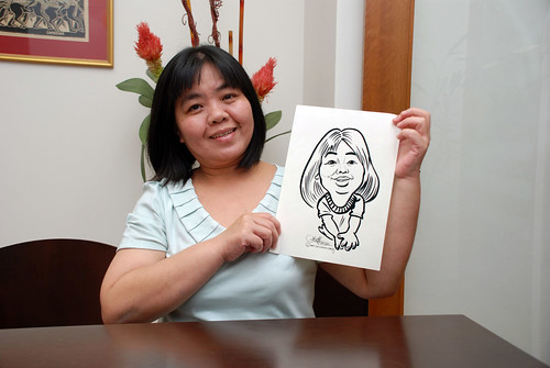 Caricature live sketching for Marks & Clerk Singapore LLP Christmas Party - 14