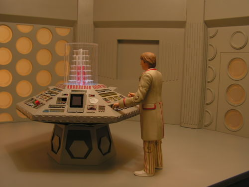 My Fifth Doctor Figure And Custom Tardis Console Room Con