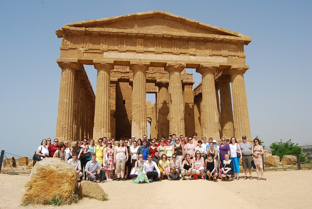 University of Maine Singers at the Temple of Concordia in the Valley of the Temples, Agrigento