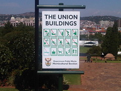 List of rules at the Union Buildings