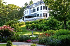 The Mount's Flower Garden late afternoon by David Dashiell