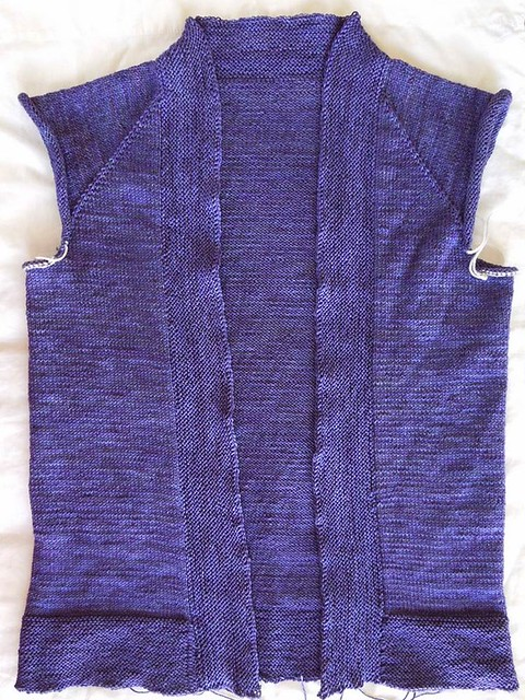 purple Wollmeise cardigan