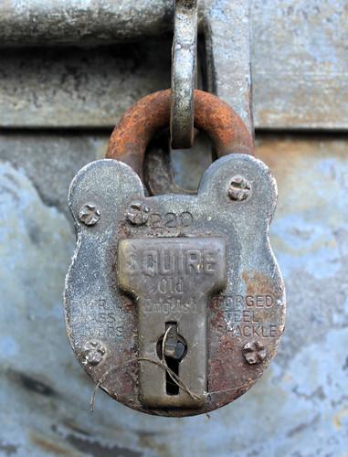 Padlock keyhole by Helen in Wales