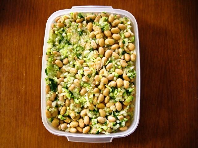 大豆と野菜のシンプルマリネ