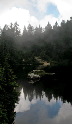 reflection on a lake on Mount Seymour