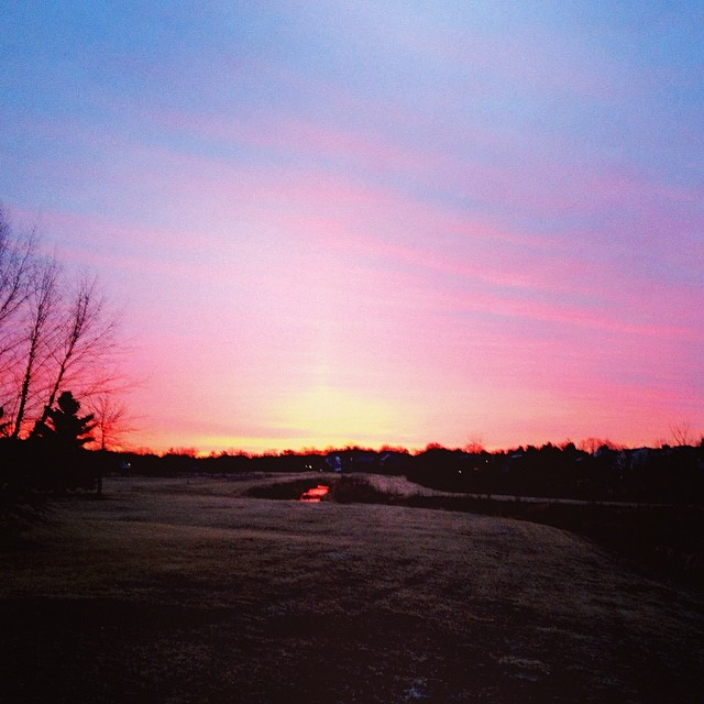 Stopped Me Dead in My Tracks #seenonmyrun #sunrise #red