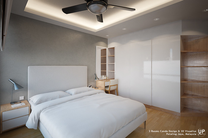Residential_minimalist interior design idea_3 Rooms Condominium_Bedroom_Petaling jaya_Malaysia_06