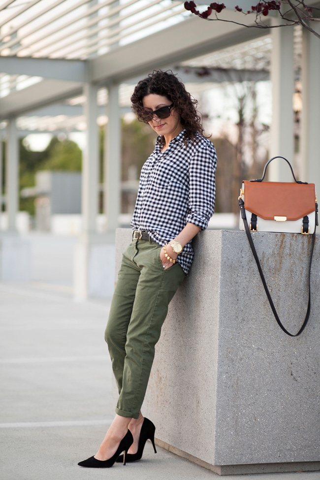j.crew-black-check-shirt-gap-olive-khaki-pants-2