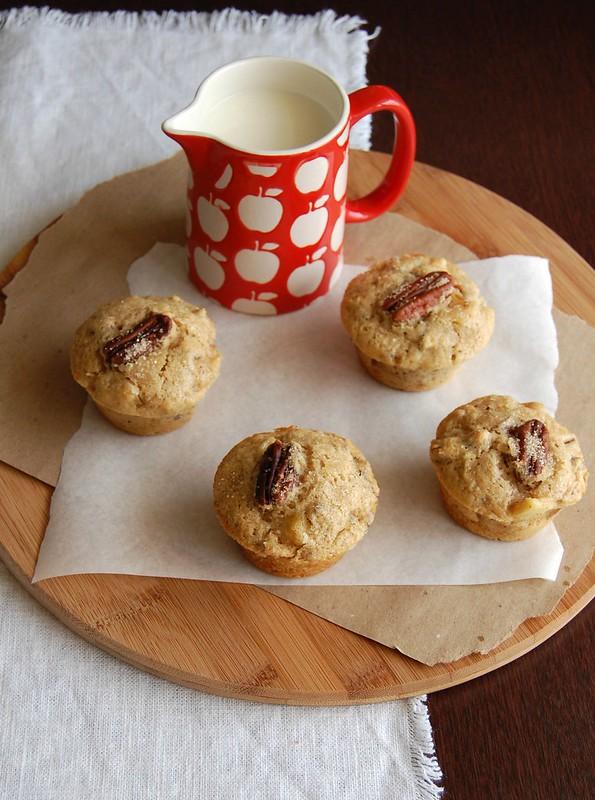 Apple pecan muffins / Muffins de maçã e pecã