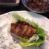 Korean Grilled pork belly (samgyupsal) #koreanfood #homecooking #instafood #foodphoto #foodporn #salad #wrap