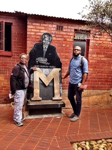 My GodSon and me at Mandela House in Soweto, Johannesburg, South Africa