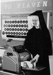BVM Sister teaching a Typing class 1959 Chicago